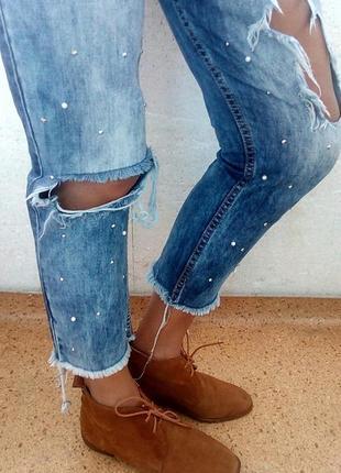 Стильные замшевые туфли-брогги mango