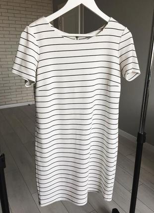Белое платье в полоску vila / біла сукняв полоску коротке плаття