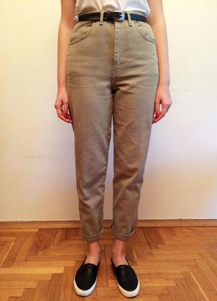 Винтажные мом джинс mom jeans с высокой посадкой