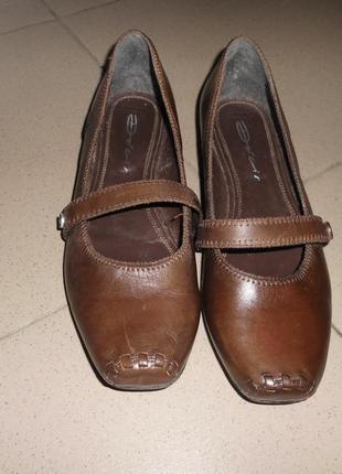 Кожаные туфли на низком ходу тип мери джейн кожа снаружи и внутри