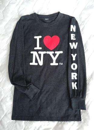Свитшот, полувер , свитер ny, размер 8-36