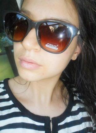 Стильные очки градиент оправа 3 категория защиты распродажа