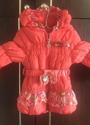 Зимняя куртка, зимова курточка для дівчинки
