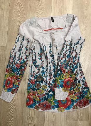 Блуза, рубашка цветочный принт