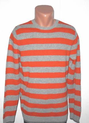 Шерстяной полосатый свитер от celio размер: 50-m, l