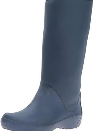 Резиновые сапоги crocs rain floe tall boot раз. w8 (наш 38)