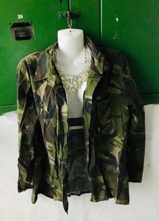 Камуфляжная кофта военная натуральная ткань рубашка