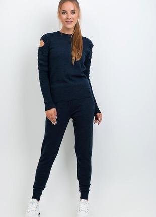 Стильный женский,очень теплый, шерстяной комплект vivacita:джемпер и брюки