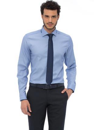 Голубая мужская рубашка lc waikiki / лс вайкики