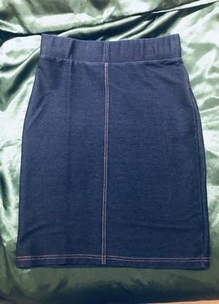 Юбка  джинсовая стреч
