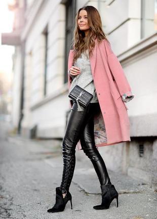🌿 кожаные брюки со шнуровкой от h&m