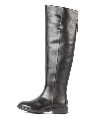 Шикарные сапоги ботфорты зимние кожаные