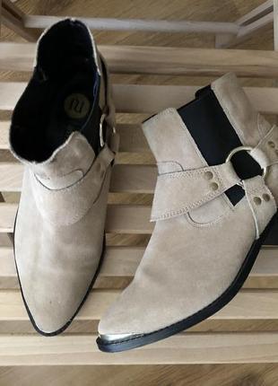 Кожаные ботинки river island