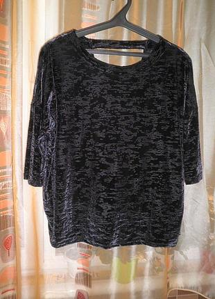 Шикарная велюровая блузка