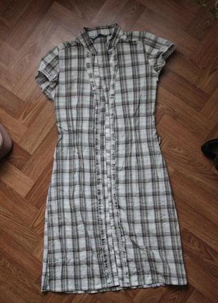 Платье на пуговицах3 фото