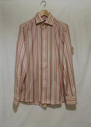 Рубашка яркая разноцветная полоска *eton* 48-50р
