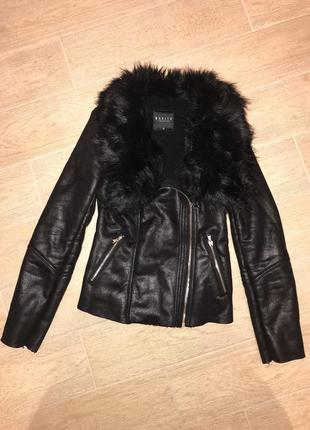 Теплая куртка косуха с мехом / mohito