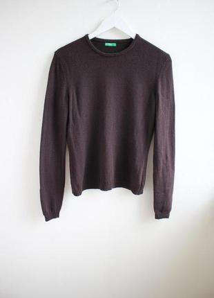 Фирменный шерстяной свитер benetton