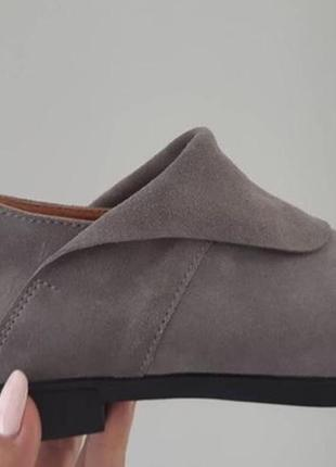 Стильные туфли слипоны замш натуральный внутри кожа