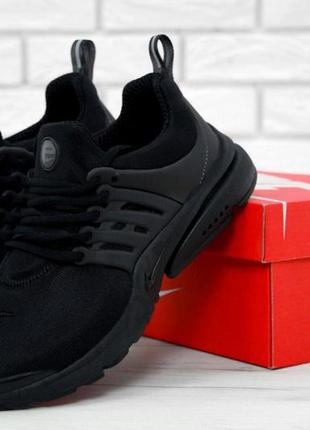 Черные мужские кроссовки nike air presto 41 42 43 44 45 46 рр