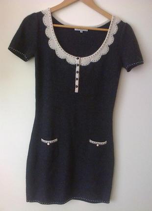 Кашемировое платье-туника adore из италии. размер м