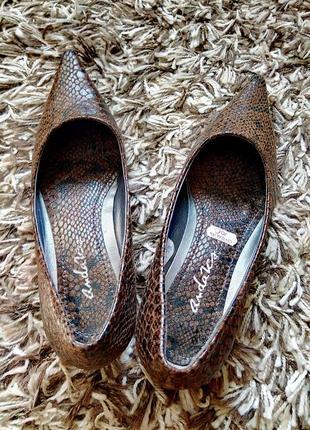 Элегантные туфли на низком каблуке