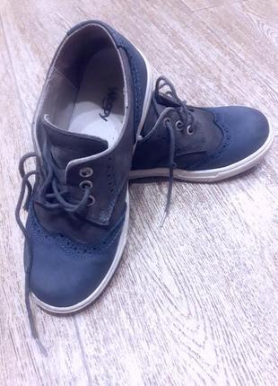 Туфли в школу woopy нубук