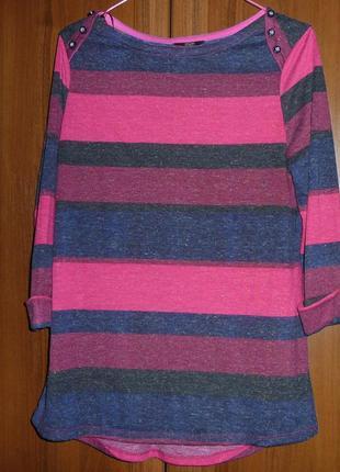 Кофточка джемпер пуловер в полоску от f&f
