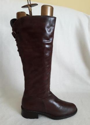 Кожаные утепленные сапоги фирмы seaside p. 39 стелька 25,5 см
