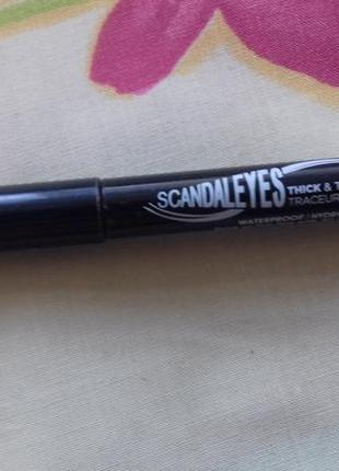 Карандаш маркер подводка для глаз черная оригинал римэль rimmel