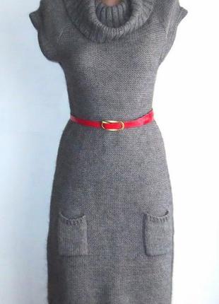 Стильное полушерстяное платье от camafeu идеально для базового гардероба размер: 42-s