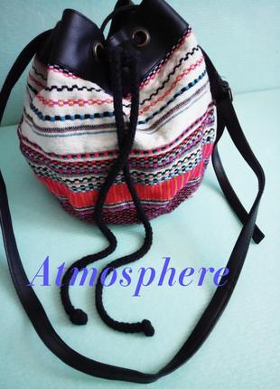 33см×25см радужная сумка-мешок-клатч на длинном ремешке atmosphere