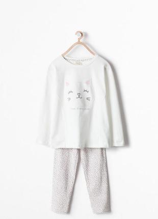 Пижама с котиком zara