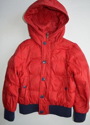 Куртка пуховик красный на 6 лет