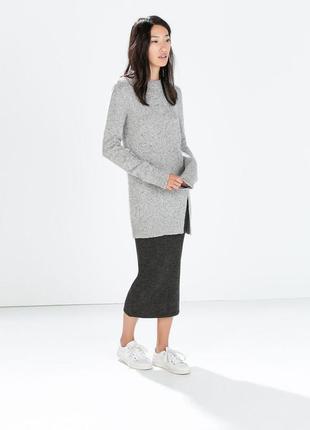 """Длинный свитер """"zara"""", размер м."""