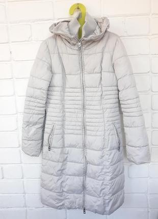 Удлиненное пальто куртка серая