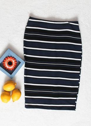 Крутая юбка карандаш в полоску от zara, размер m