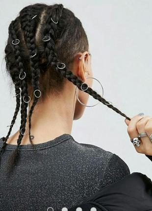 Кольца в волосы твист asos 12 шт