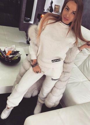 теплые вязаные костюмы женские 2019 купить недорого вещи в