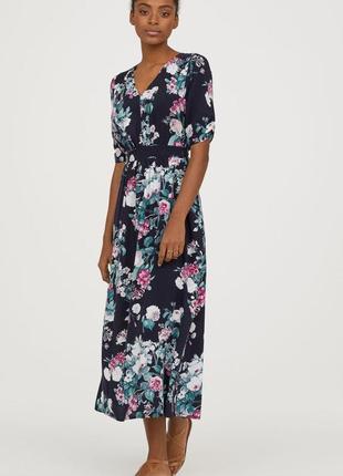 Длинное платье в цветочный принт, l