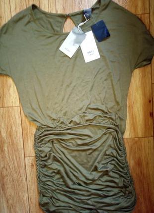 Ichi трикотажное платье оливкового цвета