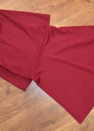 Платье с рукавом 3/4 ,бордо марсала /xs-s