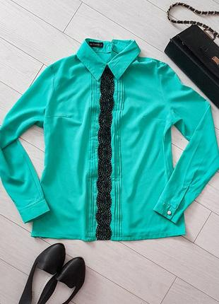 Блуза мятная рубашка турция