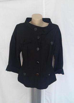 Роскошный пиджак,жакет,карманы,пуговицы,оригинальный ворот и дизайн,лен zara