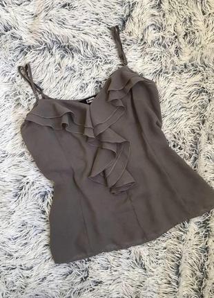 Майка блуза с воланами рюшами bik bok