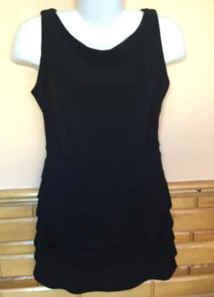 Шыкарное черное платье от new collection