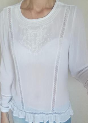 Надзвичайно красива блуза з мереживом xl-xxl