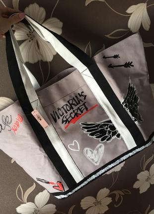 Сумка victoria's secret, большая сумка шоппер виктория сикрет оригинал