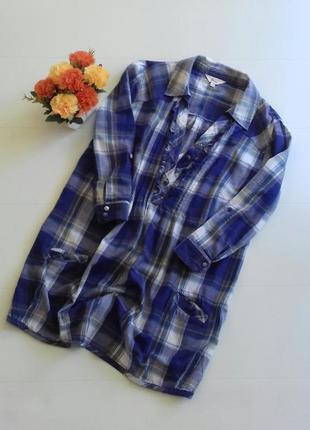 Классная рубашка туника в клетку, размер м etam