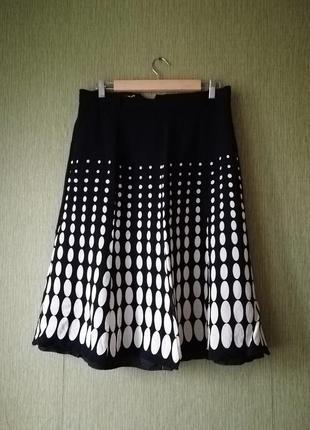 🌹 юбка миди в горошек 🌹 расклешенная чёрная юбка 👑 ретро стиль 👛
